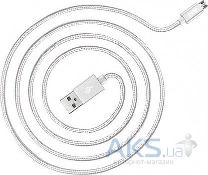 Кабель USB JUST Copper Micro USB Cable 1.2 м. Silver (MCR-CPR12-SLVR)