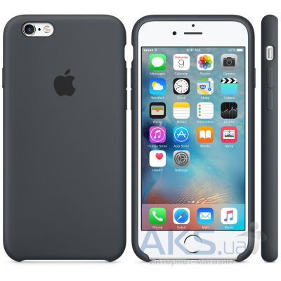 Чехол Apple Silicone Case for iPhone 6S Plus Charcoal Gray (MKXJ2)