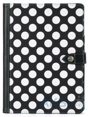 Чехол для планшета Griffin Back Bay Folio Apple iPad Air Polka Black/White/Turquoise (GB37900)