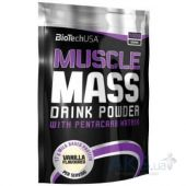 Гейнер BioTech USA Muscle Mass - 1000g клубника
