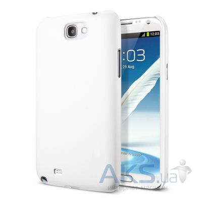 Чехол Plastic cover case for Samsung N7100 Galaxy Note 2 White
