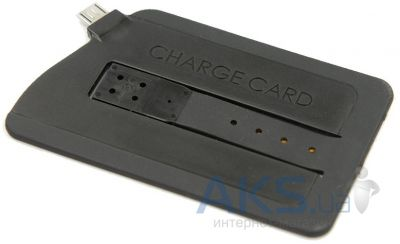 Гаджет  SmartPhone Cable CHARGECARD Micro USB Black