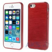 Чехол Original TPU Pearl Lines Apple iPhone 5, iPhone 5S, iPhone 5SE Red