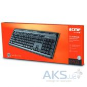 Вид 3 - Клавиатура Acme KM03 Slim Full Size Multimedia Keyboard (4770070862858) Black