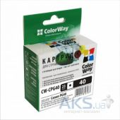 Картридж ColorWay CANON PG40 bl. CW-CPG40 Black