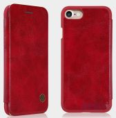 Вид 3 - Чехол Nillkin Qin Leather Series Apple iPhone 7 Red