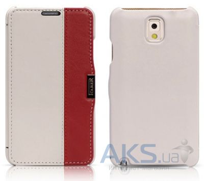 Чехол iCarer Side Open colorblock for Samsung N9000 Galaxy Note 3 White+Red (RS900002WR)