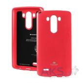 Чехол Mercury Jelly Color Series LG Optimus G3 D855, D850, D851 Crimson