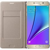 Вид 2 - Чехол Samsung Filp Wallet Series N920 Galaxy Note 5 Gold (EF-WN920PFEGRU)