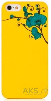 Чехол Bling My Thing Orchid Colour Apple iPhone 5, iPhone 5S, iPhone SE Yellow with Turquoise (BMT-AI5-OD-YL-BLZ)