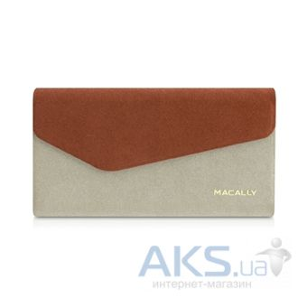 Чехол Macally Wallet Case for iPhone 5С Brown (WALLETP6-O)