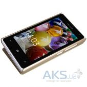 Вид 2 - Чехол Nillkin Sparkle Leather Series Nokia Lumia 435 Dual Sim Gold