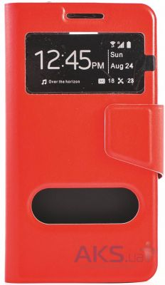 Чехол Book Cover TPU Samsung G920, G920 Duos Galaxy S6 Red