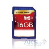 Карта памяти Silicon Power 16GB SDHC Class 10 (SP016GBSDH010V10)