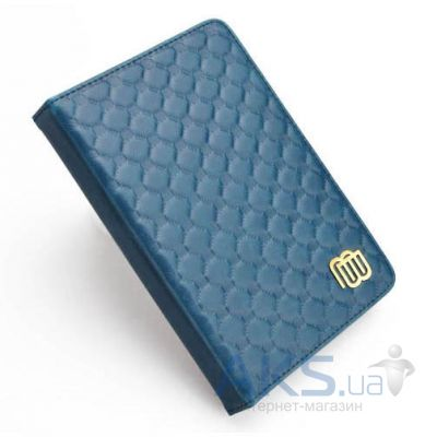 Обложка (чехол) MyBook Leather Cover Quilted Blue with LED light for Kindle 4/5 Blue
