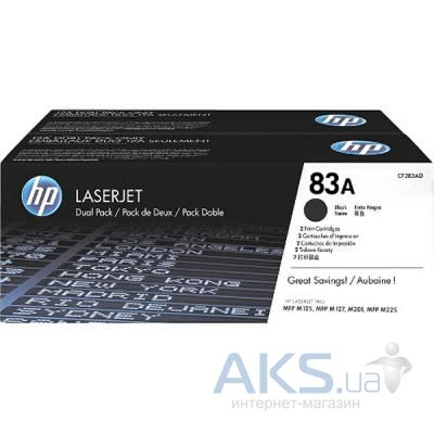 Картридж HP HP LJ 83A BLACK DUAL PACK Black