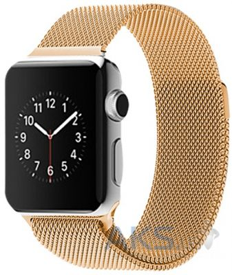 iBest Milanese Loop Band for Apple Watch 42mm Gold