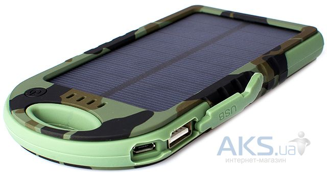 Внешний аккумулятор power bank Drobak Solar Power 4000  mAh Khaki (606802)