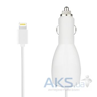 Зарядное устройство Macally Lightning Car Charger (2,4 А) White (MCAR10L)