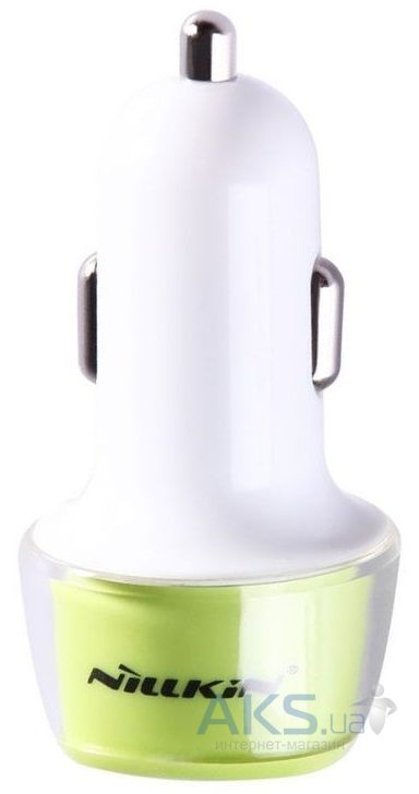 Зарядное устройство Nillkin Jelly 2USB Car charger 2.4A Green