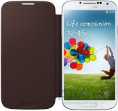 Вид 3 - Чехол Samsung Flip Cover I9500 Galaxy S4 Brown (EF-FI950BAEGWW)