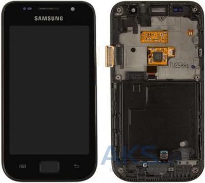 Дисплей (экран) для телефона Samsung Galaxy SL I9003 + Touchscreen with frame Original Black