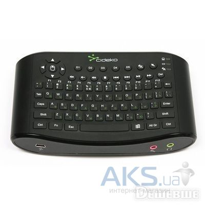 Клавиатура Cideko Air Keyboard iChat w.Mic&Vol. control (AK 05) Black
