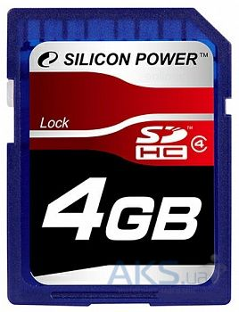 Карта памяти Silicon Power 4Gb SDHC class 4 (SP004GBSDH004V10)