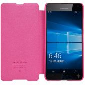 Вид 2 - Чехол Nillkin Sparkle Leather Series Microsoft Lumia 650 Pink