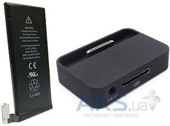 Аккумулятор Apple iPhone 4 (1420 mAh) Original + Dock station (MC596) (45326) Black