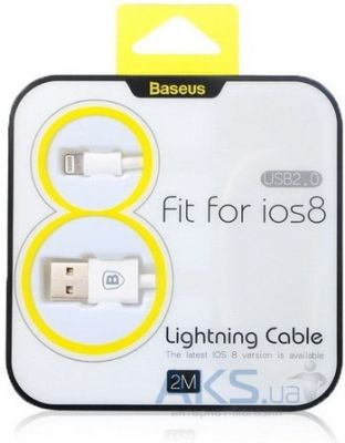 Кабель USB Baseus USB lightning Cable for iPhone 5 White