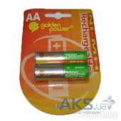 Элемент питания Golden Power AA (R6)  2500mAh NiMH  1шт