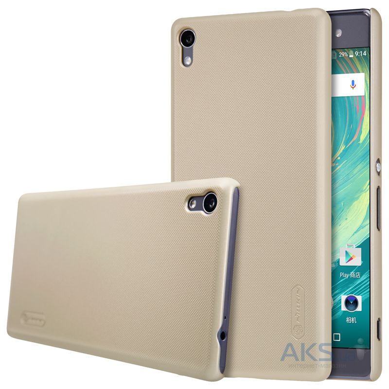 Чехол Nillkin Super Frosted Shield Sony Xperia XA Ultra Gold
