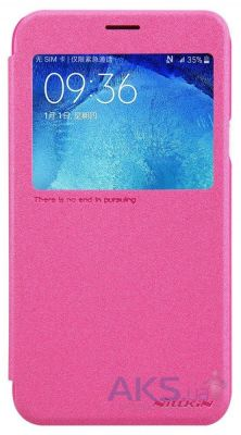 Чехол Nillkin Sparkle Leather Series Samsung J700 Galaxy J7 Pink