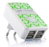 Зарядное устройство Henca Smart Charger 4 USB (CT46E-USB) White
