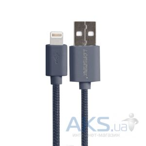 Кабель USB GOLF Lonsmax Lightning Fabric Plastic Grey