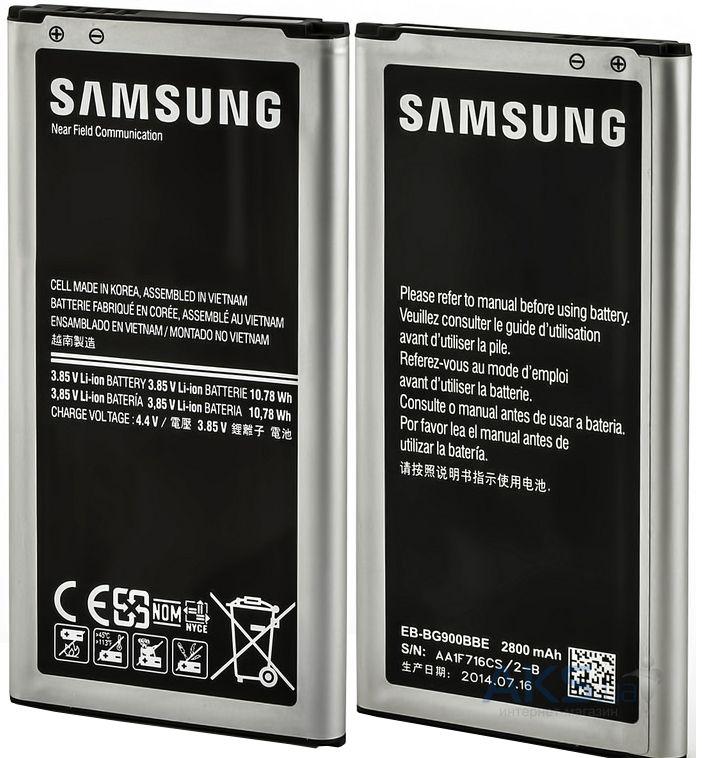 Код товара  226534. Аккумулятор Samsung G900H Galaxy S5   EB-BG900BB (2800  mAh) cbc1e8aa406b4