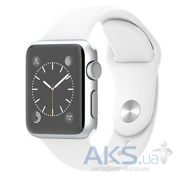 Умные часы Apple Watch Sport 38mm Aluminum Silver with White Sport Band (MJ2T2)
