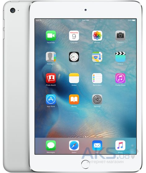 Планшет Apple A1538 iPad mini 4 Wi-Fi 64Gb  (MK9H2RK/A) Silver