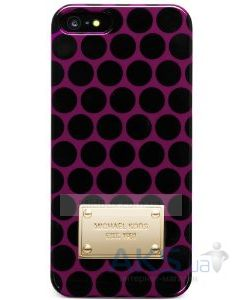 Чехол Michael Kors Black Dot Case for iPhone 5/5S White Pomegranate (MK-BLDT-PMGR)