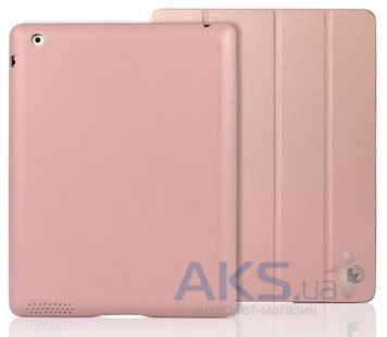 Чехол для планшета JisonCase Executive Smart Cover for iPad 4/3/2 Pink (JS-IPD-06H35)