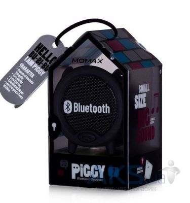 Колонки акустические Momax Piggy bluetooth speaker (ST1D) Black