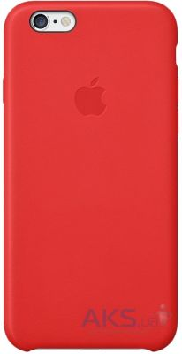 Чехол Apple Copy Leather Case iPhone 6, iPhone 6S Red (MGR82_C)