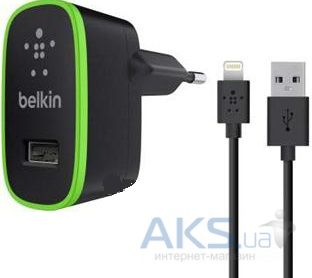 Зарядное устройство Belkin Dual Home USB Charger + Lightning Black