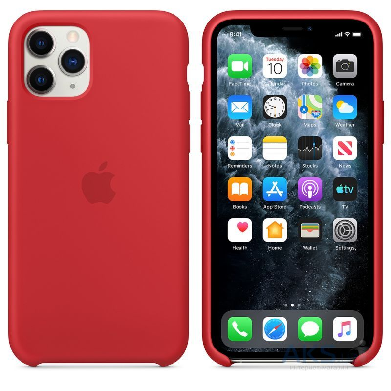 Чехол Apple Silicone Case iPhone 11 Pro Max Red_High Copy - фото 2