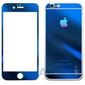 Защитное стекло Tempered Glass 3D Full Cover Mirror Series Apple iPhone 5, iPhone 5S, iPhone SE Blue (Экран + Задняя крышка)