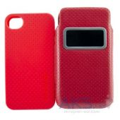 Чехол Capdase Smart Pocket Case ID Value Set Solid Red/Red for iPhone 4/4S (DPIH4S-V599)