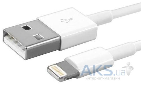 Кабель USB Apple iPhone Lightning to USB 2.0 (MD818) Все версии iOS! White - фото 2