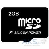 Карта памяти Silicon Power 2GB microSD (SP002GBSDT000V10)