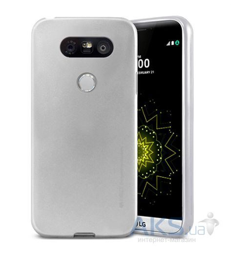 Чехол Mercury Jelly Metal Series LG G5 H850 Silver